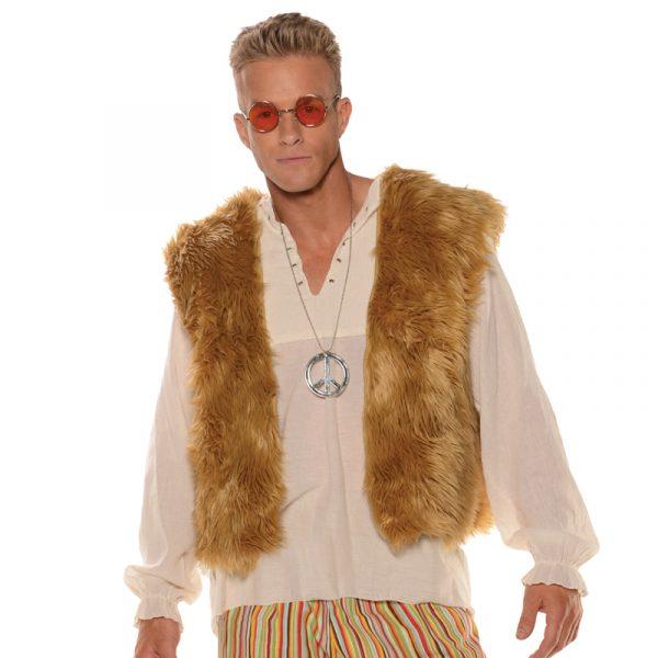 Hippie Furry Vest Adult Halloween Costume