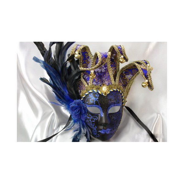 Deluxe Venetian Jester Full Face Mask