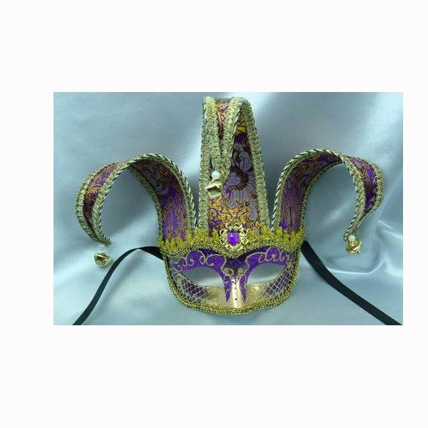 Deluxe Venetian Jester Half Mask