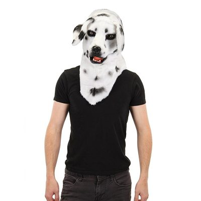 Dalmatian Mask With Movable Mouth