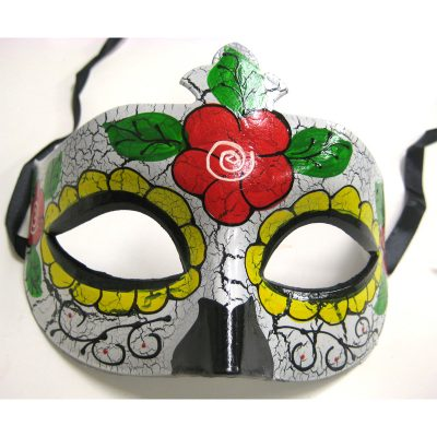 Day of the Dead Half Mask with Roses