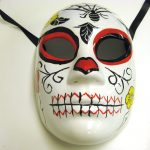 Day of the Dead Full Face Mask With Spider in Web
