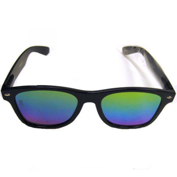 Flat Lens/Dark Frame Sunglasses