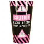 6 Inch Printed Plastic Drinking Cup Bachelorette Party, #Bride