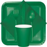 emerald green tableware