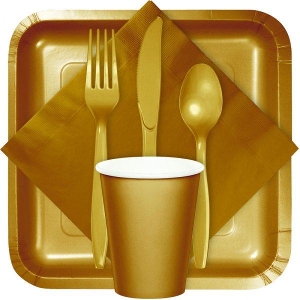 glittering gold tableware
