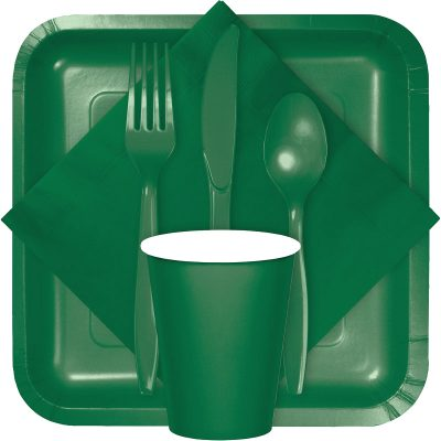 Hunter green tableware