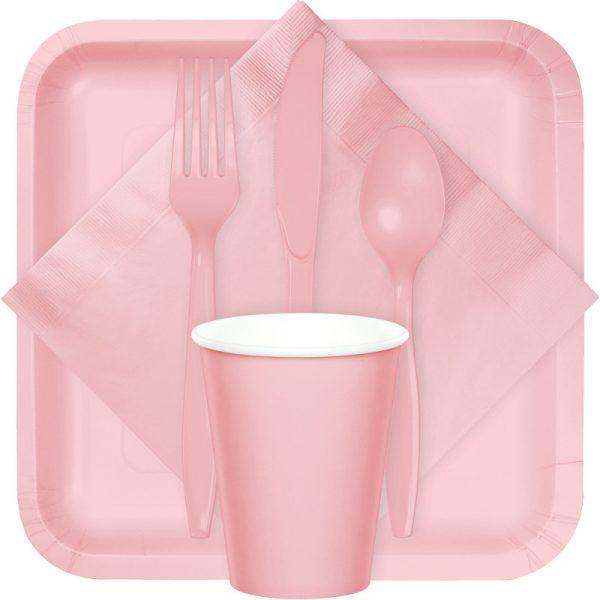 classic pink tableware
