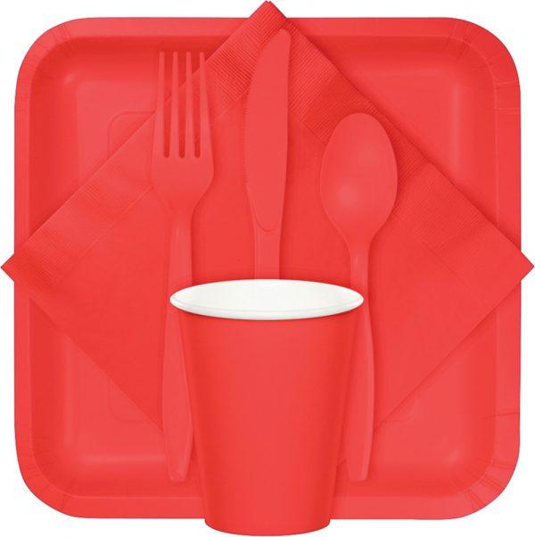 Coral tableware