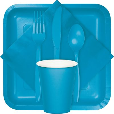 turquoise tableware