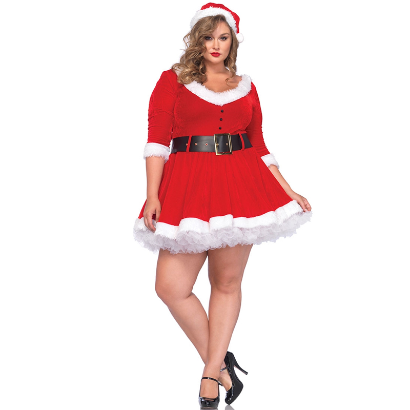 Miss Santa Sexy Halloween Costume- Plus Size