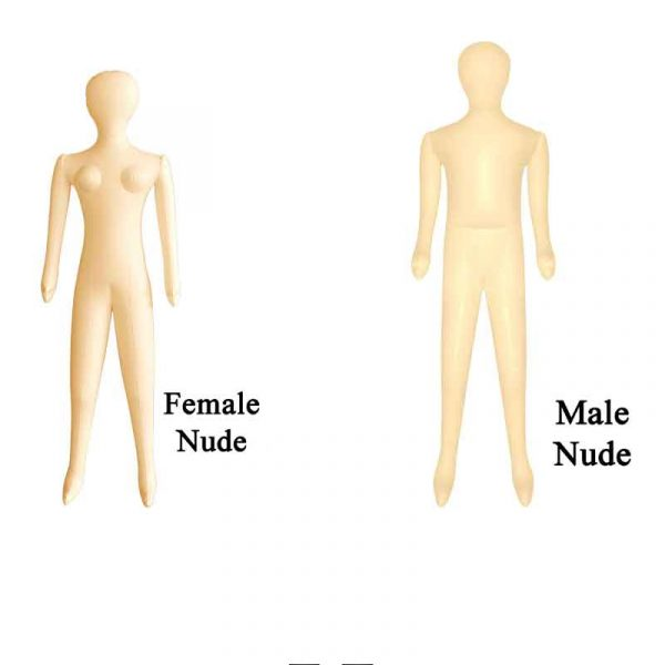 """62"""" Tall Male Female Inflatable Mannequin"""
