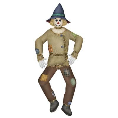 Jointed Scarecrow Fall Decoration
