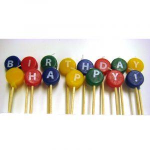 Happy Birthday Candle Pick Set