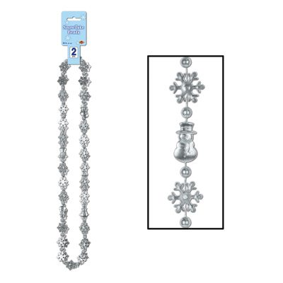 Snowflake Beads Christmas Party Supply