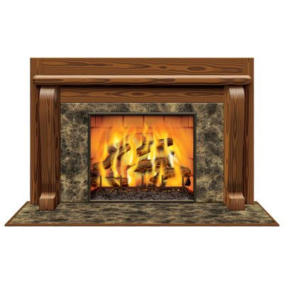 Fireplace Insta-View Christmas Decoration