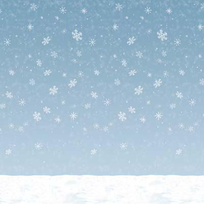Winter Sky Backdrop Christmas Decoration