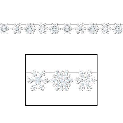 Glittered Snowflake Streamer Holiday Decoration