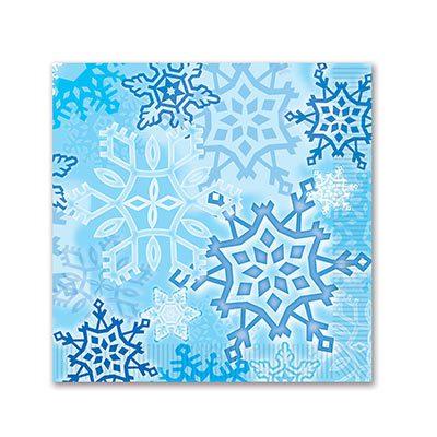 Snowflake Beverage Napkins Holiday Party Supply