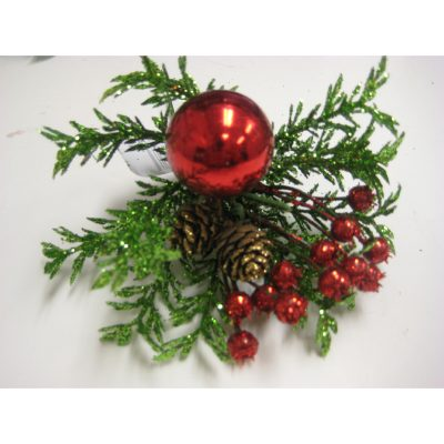 Deluxe Glittered Christmas Floral Pick