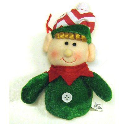 Green Velvet Elf Ornament