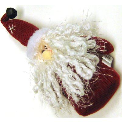 Woven Fabric Santa Ornament