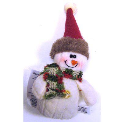 Sweater Fabric Snowman Ornament
