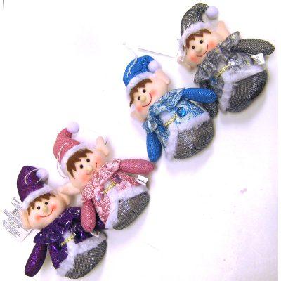 Winter Bright Fabric Elf Ornament