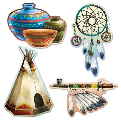Native American Cutouts Thanksgiving Party Decoration