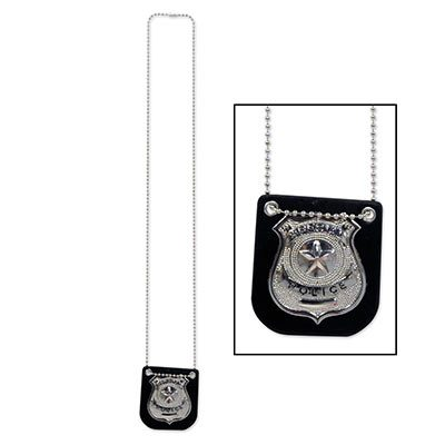 Metal Police Badge Halloween Costume Accessory