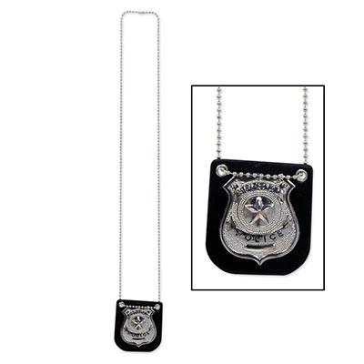 Metal Police Badge Halloween Costume Accessory