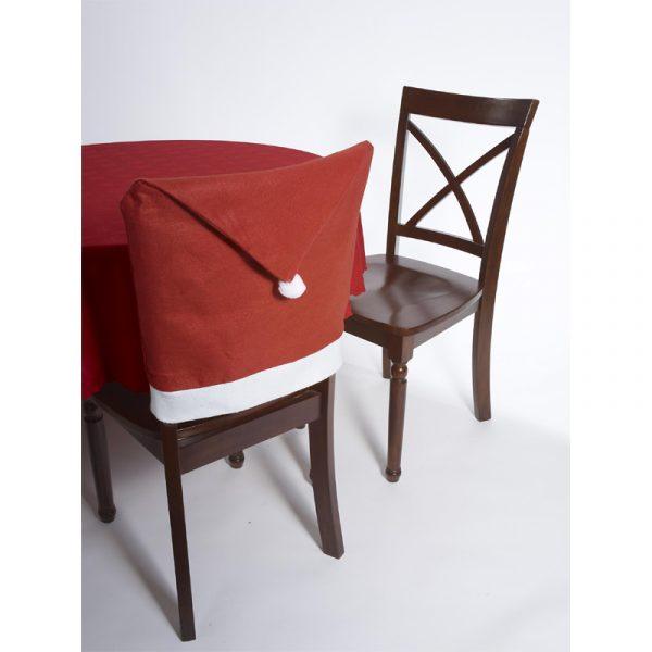Santa Hat Fabric Chair Cover