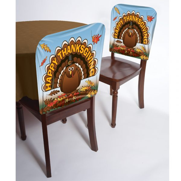 Easy Clean Thanksgiving Chair Cover