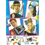 80s party Photo Booth Accessories Set