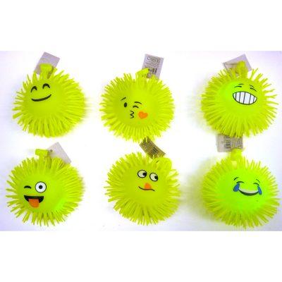 Rubber Emoji Puffer Ball Light-up Yo Yo
