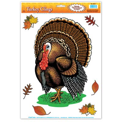 Turkey Cling Thanksgiving Party Supply