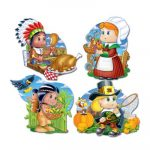 Packaged Thanksgiving Kiddie Cutouts