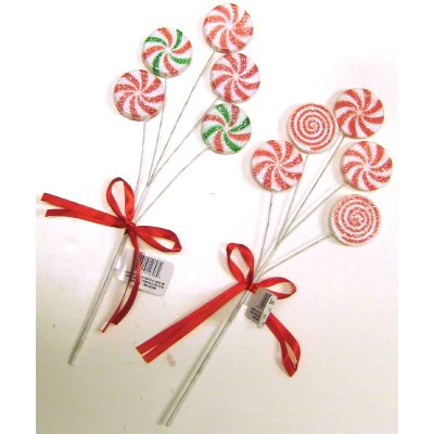 """Round Peppermint Pick 11.5"""""""