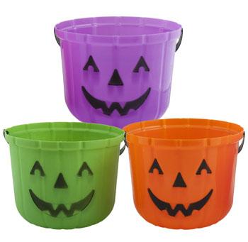 Pumpkin Halloween Treat Buckets