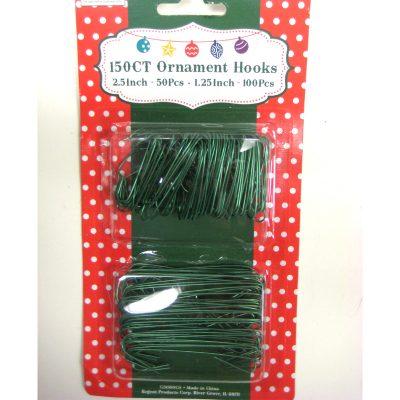 Green Christmas Ornament Hooks