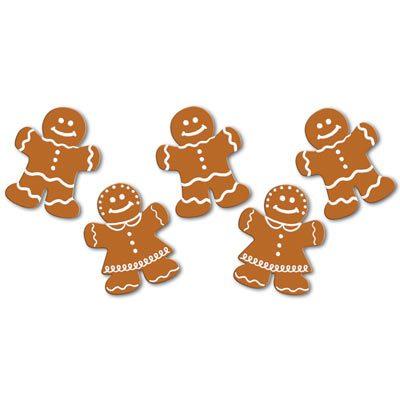 Mini Gingerbread Cutouts Christmas Decoration