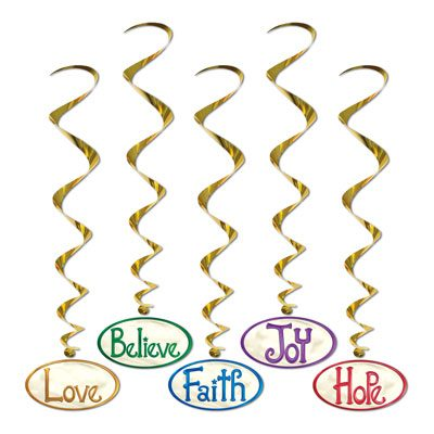 Christmas Word Whirls Holiday Decorations