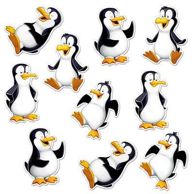 Mini Penguin Cutouts Holiday Decorations