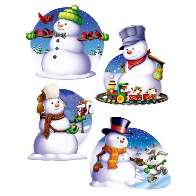 Snowman Cutouts Christmas Decorations