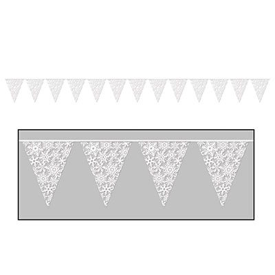 Snowflake Pennant Banner Holiday Decorations