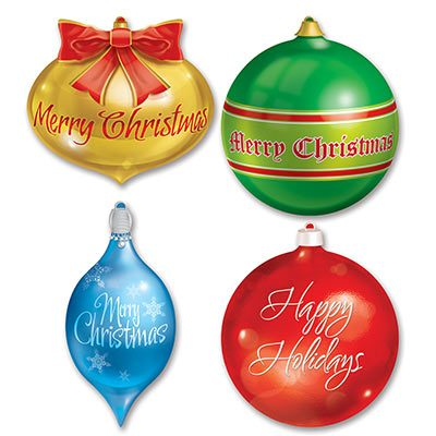 Packaged Christmas Ornament Cutouts
