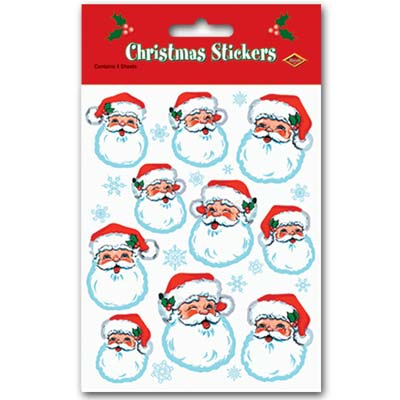 Santa Face Stickers Christmas Decorations