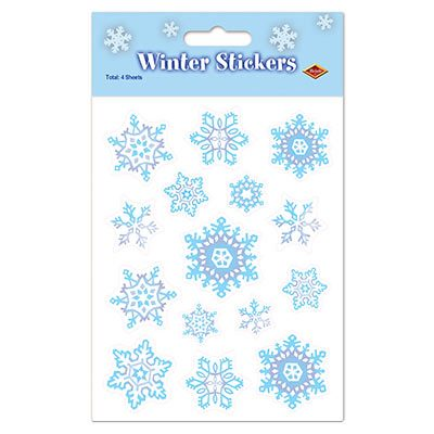 Snowflake Stickers Christmas Decorations