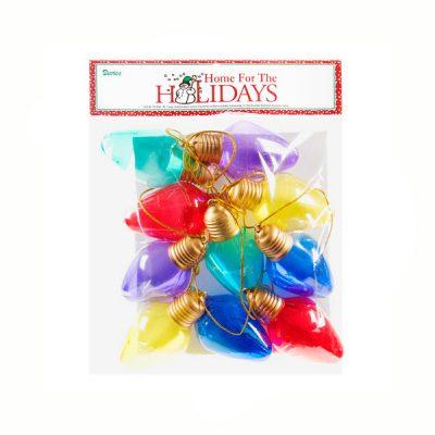 9' Garland of Plastic Transparent Christmas Bulbs