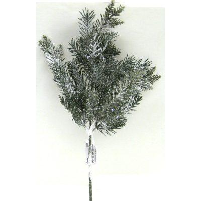 Snowy Plastic Mixed Pine Florists Spray